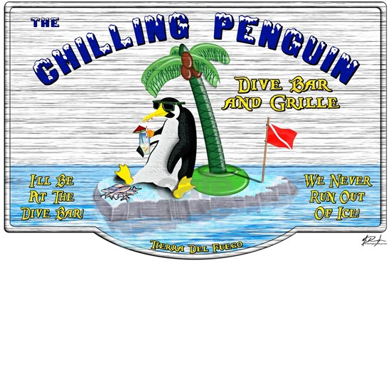 Chilling Penguin T-shirt