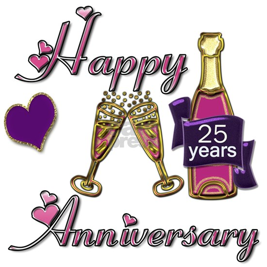 Anniversary pink and purple 25