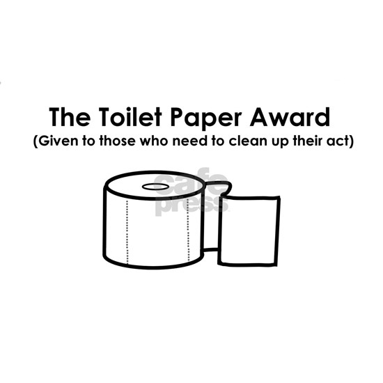 Toilet paper award without border