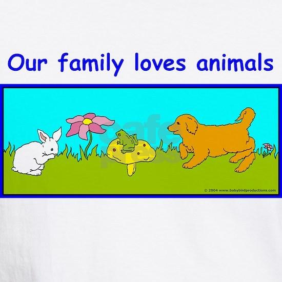 familytshirtbunnydogfrog