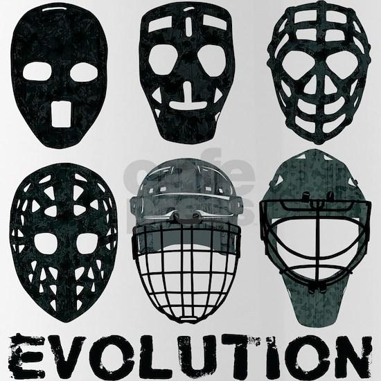 Hockey Goalie Mask Evolution Water Bottle By Brando Cafepress