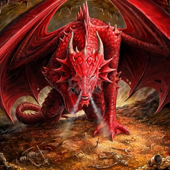 Angry Red Dragon