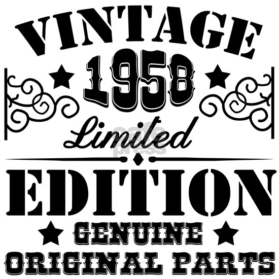 VINTAGE 1958 LIMITED EDITION GENUINE ORIGINAL PART