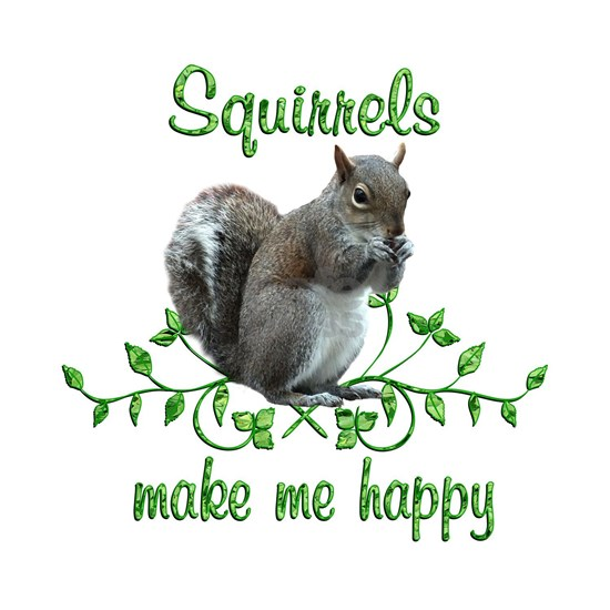 Squirrels Make Me Happy