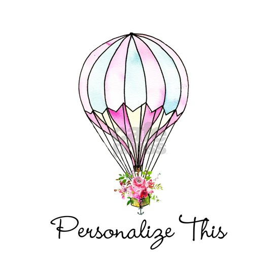 Floral Hot Air Balloon Personalized