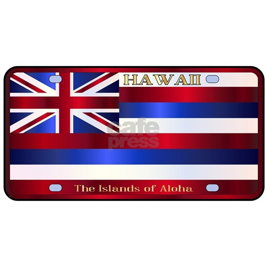 Hawaii State License Plate Flag