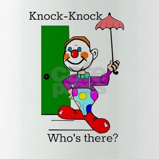 Knock - Knock Joke Clown and Umbrella Water Bottle