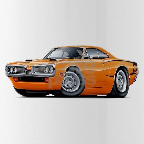 1970 Super Bee Orange-Black C-Stripe Scoop Hood.p