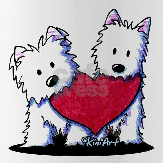 Westie Heartfelt Duo