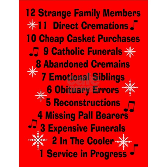 12 days of funeral home red