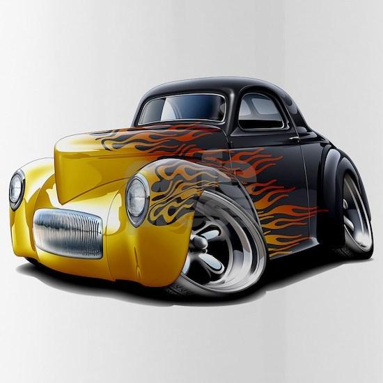 1941 Willys Black-Flames Car