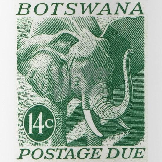 1971 Botswana Elephant Postage Stamp