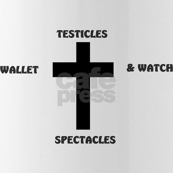 TESTICLES - S- WALLET  WATCH CROSS