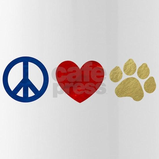 Peace Love Paw Print