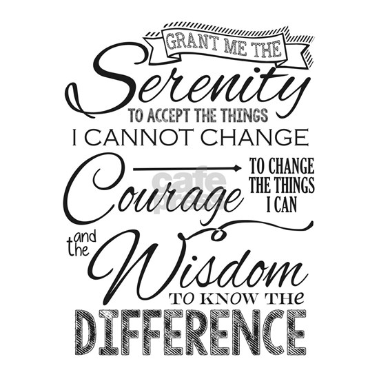 Serenity Prayer (Chalk Text)