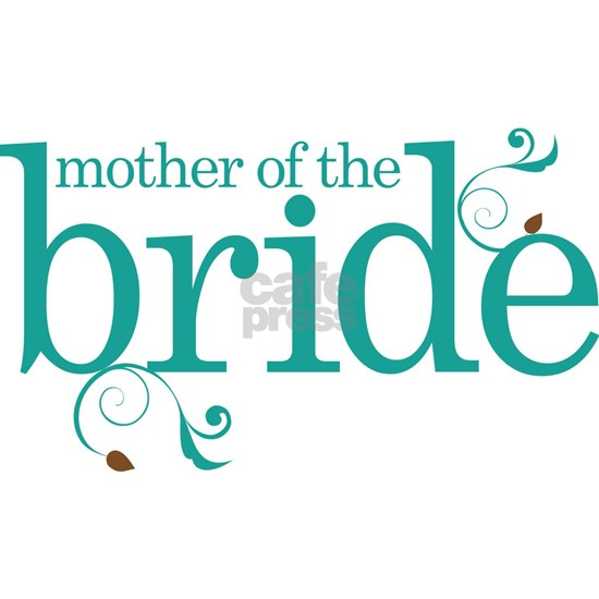 mother of the bride teal swirl
