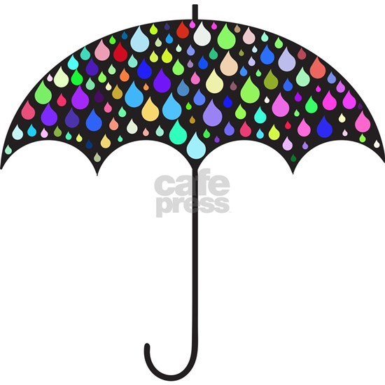 Rainbow Raindrop Umbrella