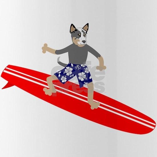 Australian Cattle Dog Surfer