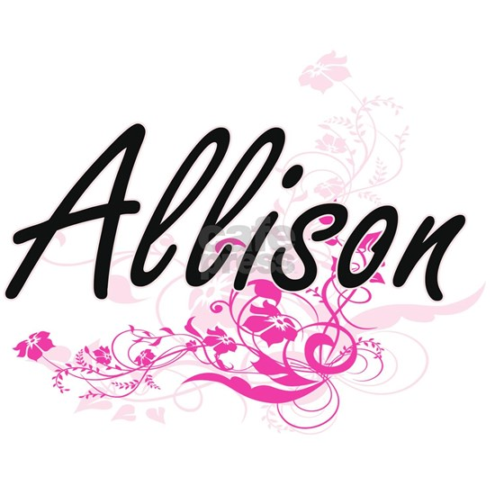 Allison Artistic Name Design with Flowers