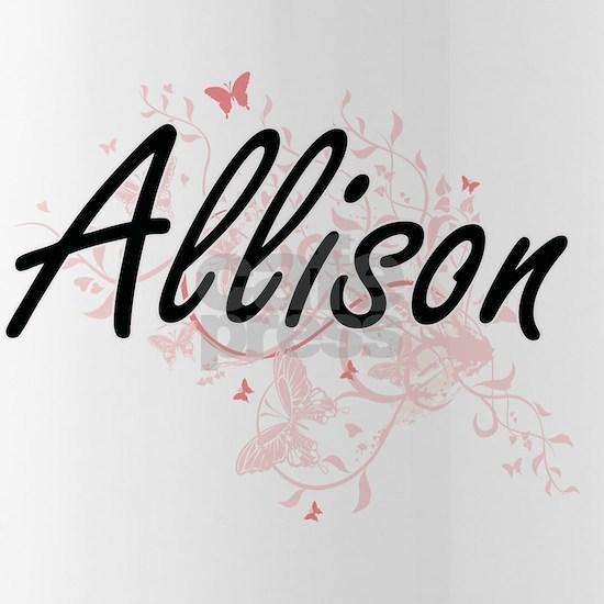 Allison surname artistic design with Butterflies
