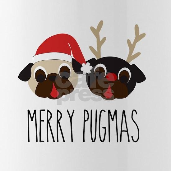 Merry Pugmas Santa & Reindeer Pugs