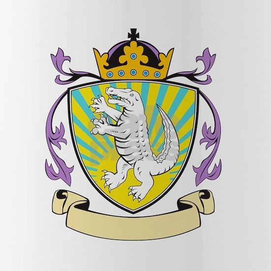 Alligator Standing Coat of Arms Retro