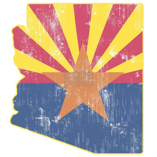 Vintage Arizona State Outline Flag