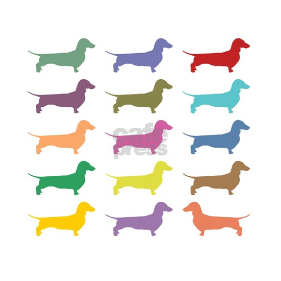 Colorful Dachshunds