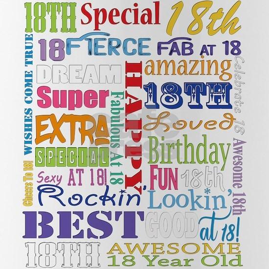 18th Birthday Typography