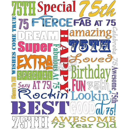 75th Birthday Typography