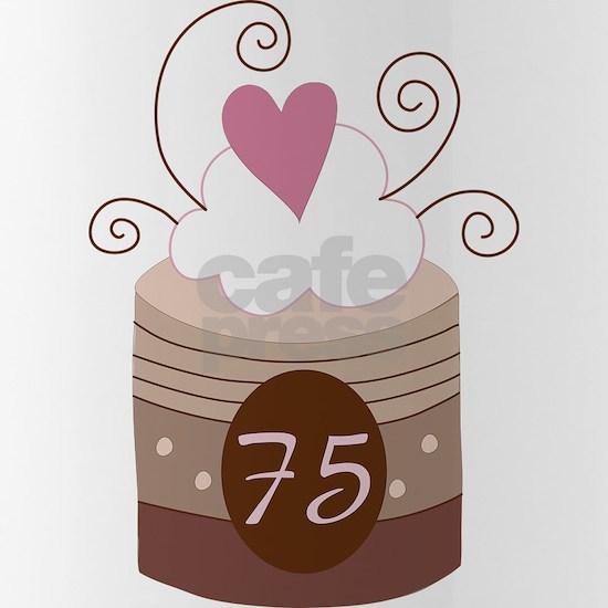 75th Birthday Cupcake