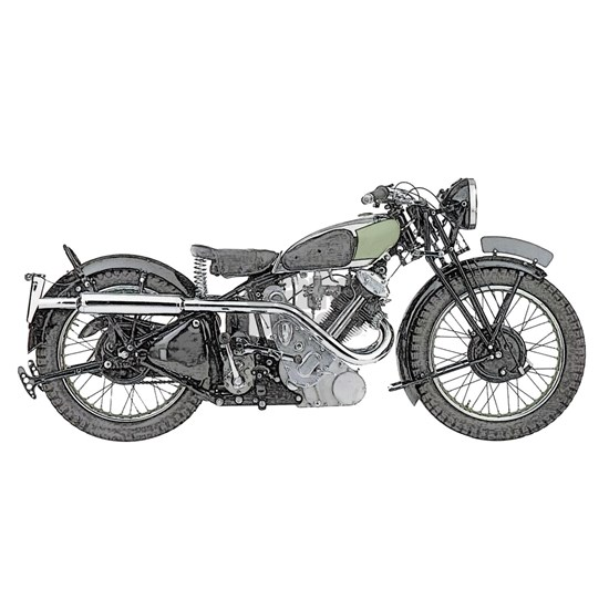 1935 classic motorcycle