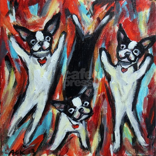 Boston Terrier love dance party