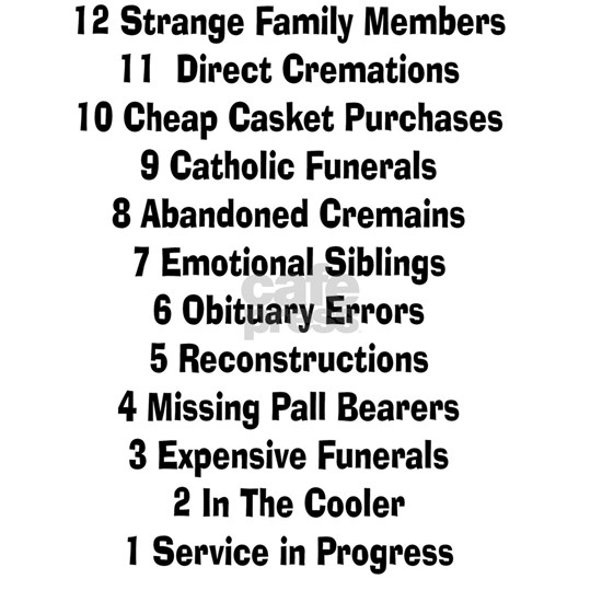 12 days of funeral home