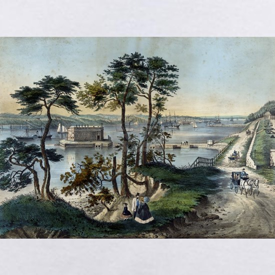 Staten Island and the Narrows from Fort Hamilton -