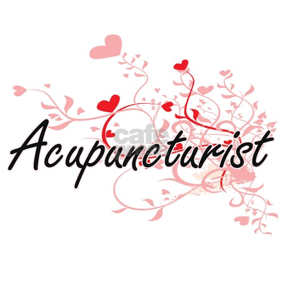 Acupuncturist Artistic Job Design with Hearts