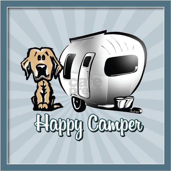 Happy Camper Dog