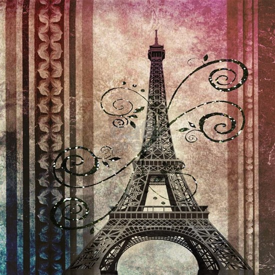 floral swirls eiffel tower paris