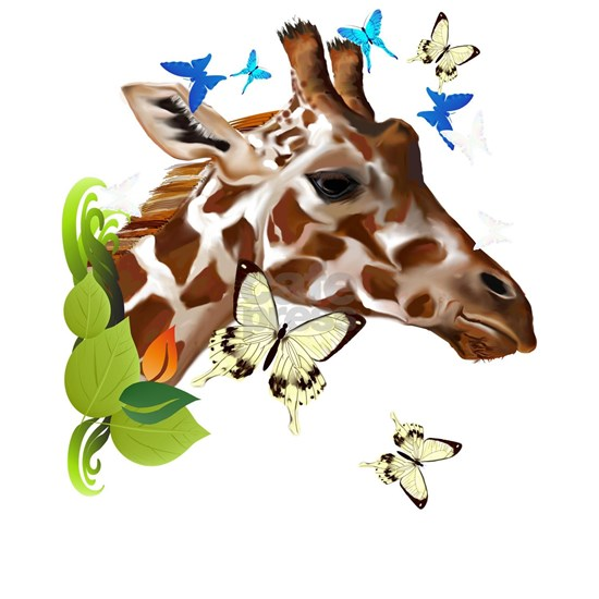 GIRAFFE and BUTTERFLIES