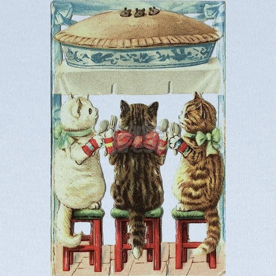 THREE LITTLE KITTENS VINTAGE ART DESIGN