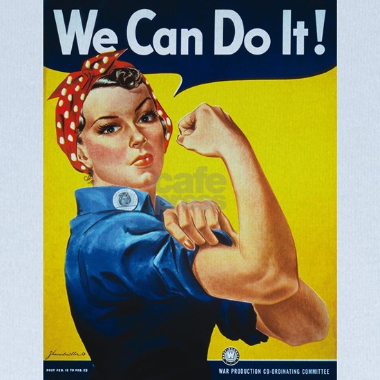 Rosie The Riveter WW2 WPA Poster