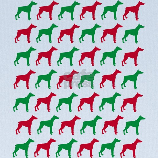 Doberman Christmas or Holiday Silhouette