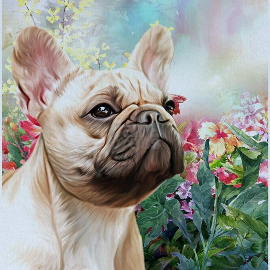 French Bulldog Painting