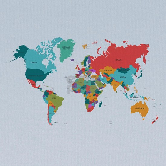 World Map With the Name of The Countries