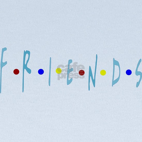 FRIENDS TV Logo Blue