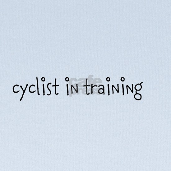 cyclist in training text