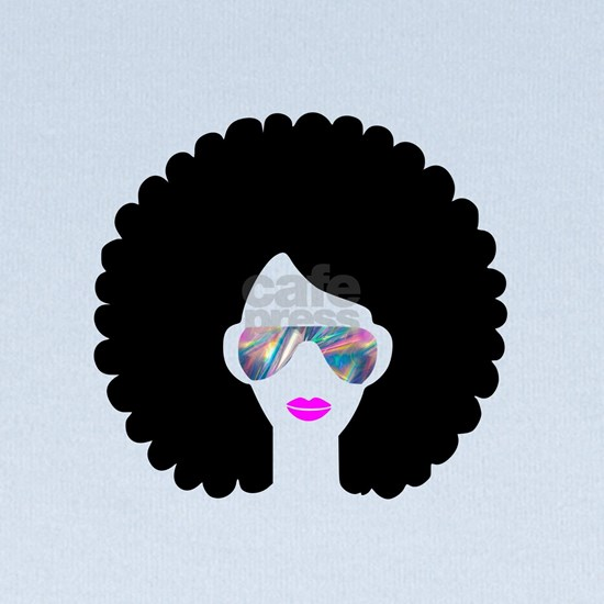 hologram afro girl
