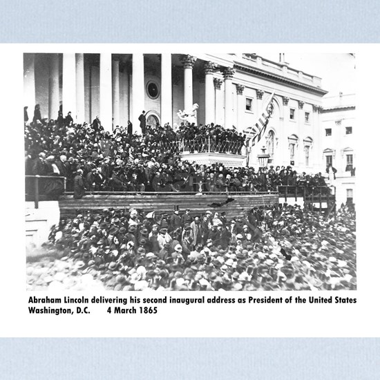 Abraham Lincoln inauguration photo