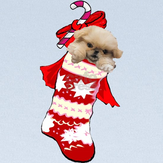 pekingese christmas stocking