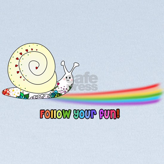 Rainbow Follow Your Fun Cute Snail